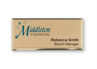 Navitor Configurator Demo - Full Color Metallic Name Badges